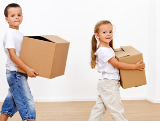 Kids help with removals